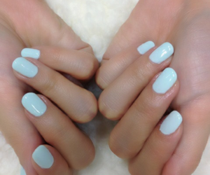 nails, blue, and hands image
