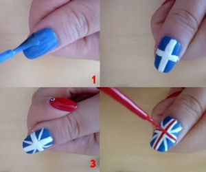 flag and nail art image