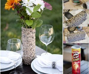 diy, flowers, and pringles image