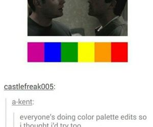 dean winchester, gay, and cas image