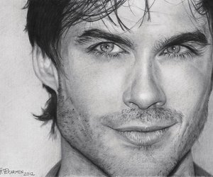 ian somerhalder and drawing image