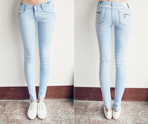 abs, glam, and jeans image