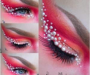 beauty, carnival, and eyeshadow image