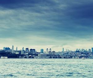 city, blue, and sky image