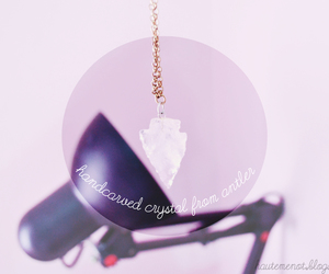 antler, crystal, and necklace image