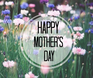 mom, mother, and flowers image