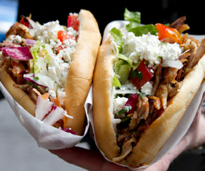 food, delicious, and kebab image