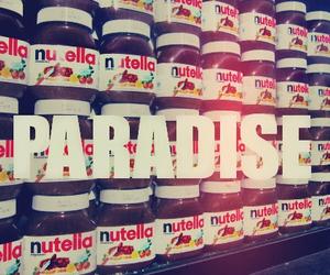 nutella, paradise, and chocolate image