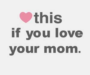 love, mom, and heart image
