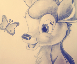 bambi and drawing image