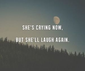 quote, laugh, and crying image