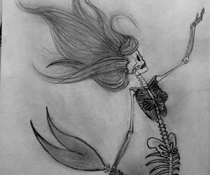 cool, drawing, and mermaid image