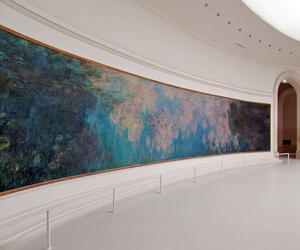 art, museum, and claude monet image