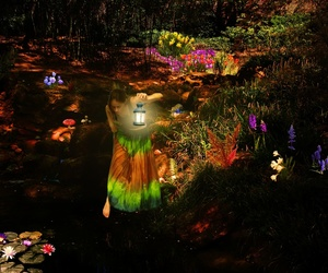 beautiful, fairy, and flower image