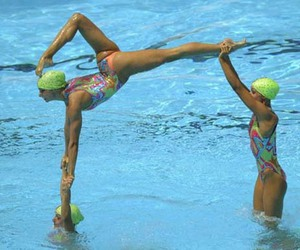 acrobatic, synchronized swimming, and girl image
