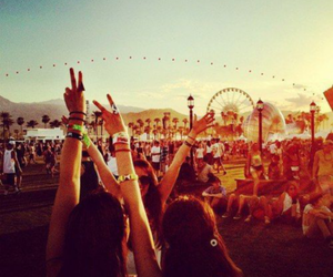 summer, festival, and friends image