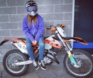 girl, me, and motocross image