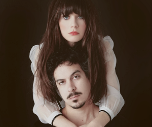 zooey deschanel, she & him, and M. ward image