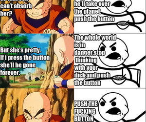 anime, dragonball z, and cereal guy image