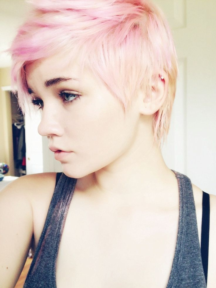 Colored Pixie Cut Tumblr Hair Color Ideas And Styles For 2018
