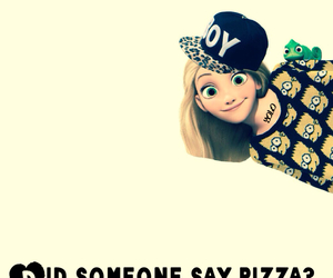 girl, pizza, and rapunzel image