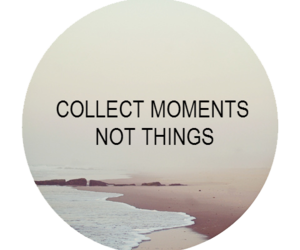 quote, moment, and beach image
