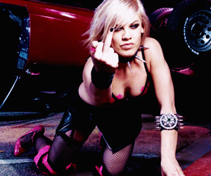 beautiful, fuck you, and P!nk image
