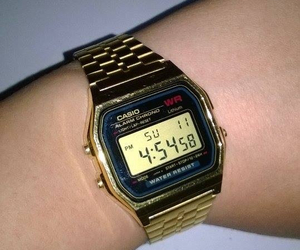 gold, casio, and watch image