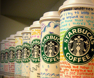 starbucks, coffee, and text image