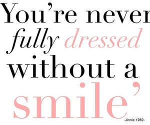 quotes, smile, and dressed image
