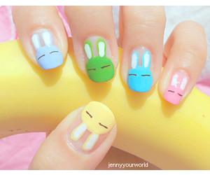 nails, bunny, and pink image