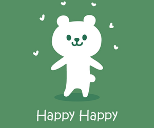 bear and happy image
