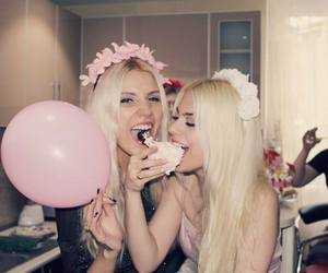 balloon, cupcake, and pink image
