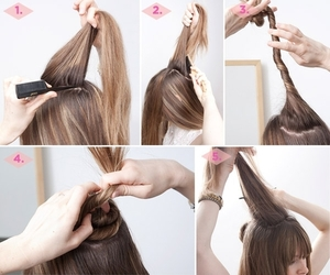hair, hairstyle, and tutorial image