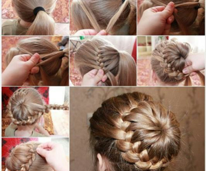 blonde, braid, and tutorial image
