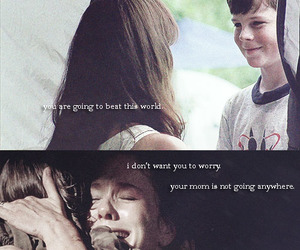the walking dead, carl grimes, and lori grimes image