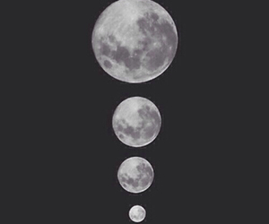 moon, grunge, and black image