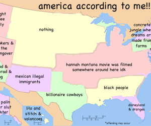 america, funny, and map image