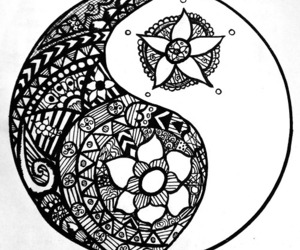 mandala and yng yang image