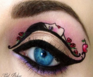 snow white, tal peleg, and incredible eye art image