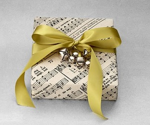 gift, music, and wrap image