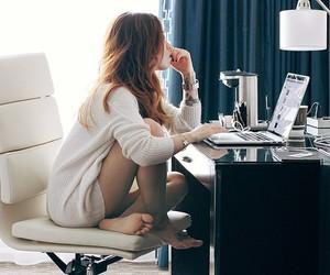 girl and work image