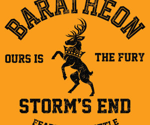 game of thrones, house baratheon, and geek tees image