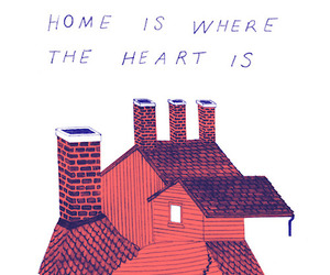 drawing, home, and love image