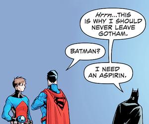 DC, superman, and batman image