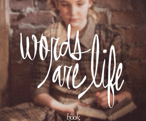 book, the book thief, and words image