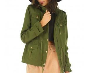 green, hood, and pockets image