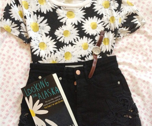 book, outfit, and looking for alaska image