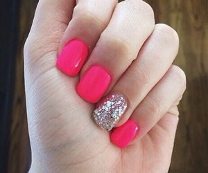 glitter, cute, and nails image