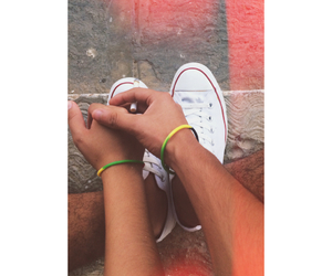 converse, couple love, and dope image